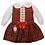 Thumbnail: Red Tartan Dress & Blouse Set