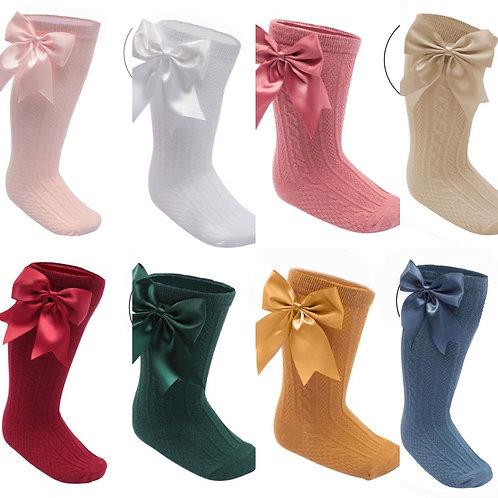 Knee Length 'Elegance' Bow Socks