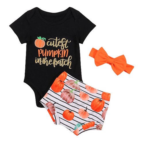"""""""Cutest Pumpkin in the Patch"""" 3Pce Outfit"""