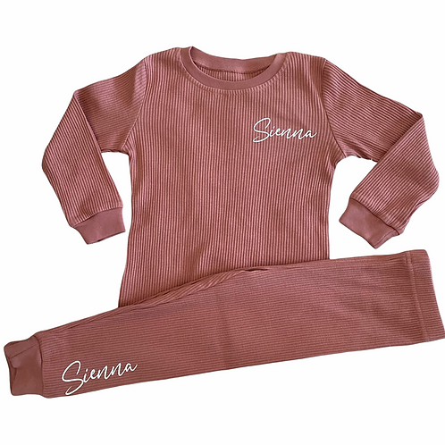 Personalised Ribbed Loungwear