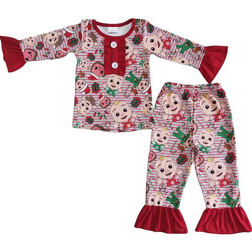 Girls Christmas Cocomelon PJs