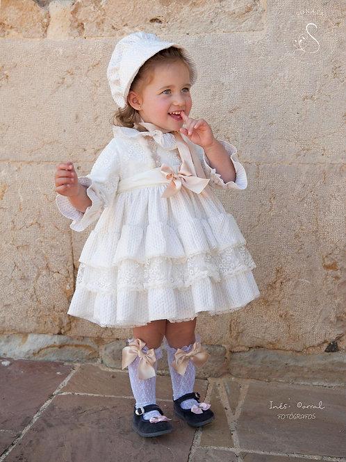 Sonata Cream Ruffles Dress