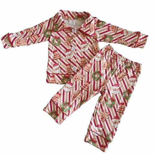 Boys Stripe Christmas Pyjamas