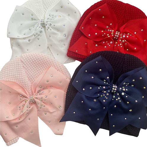 Turban Diamanté Bow Hats
