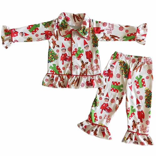 Girls 'Elf on the Shelf' Pyjamas