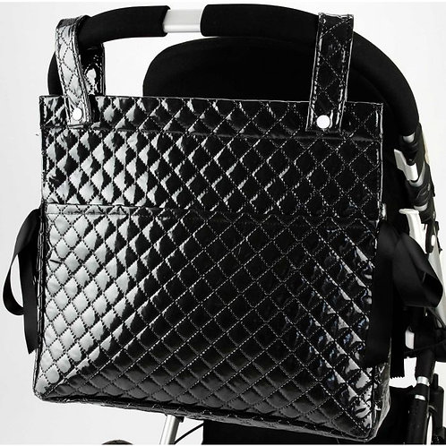 Square Black Quilted Changing Bag