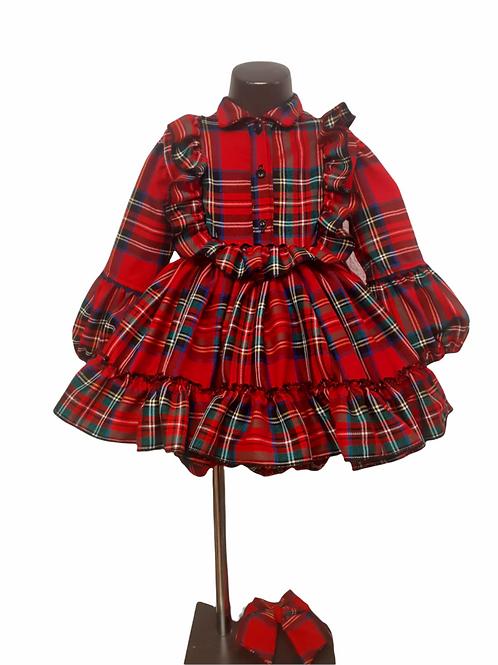 Tartan Puffball Dress