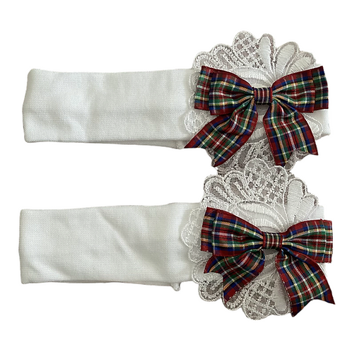Tartan & Lace Bow Headbands