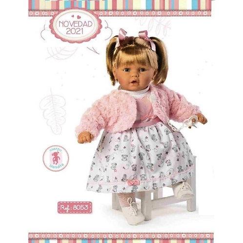 Pink Fluffy Bolero Dress Large Girl Doll