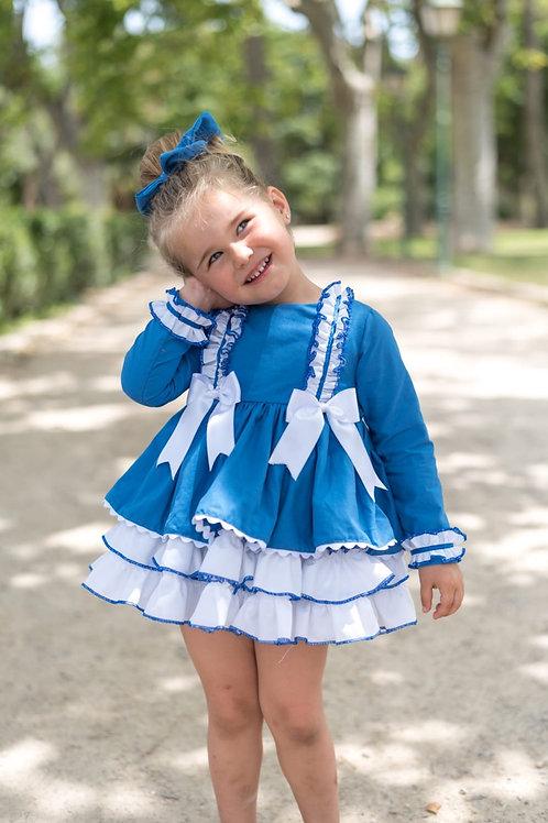Spanish Puffball Dress (Choice of Colour)