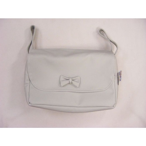 Grey Bow Front Changing Bag