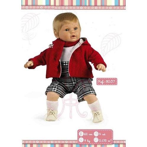 Grey Tartan Outfit Large Boy Doll