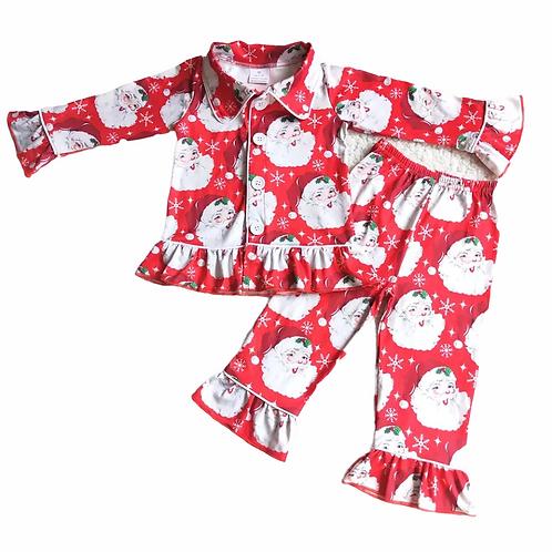 Girls Father Christmas Pyjamas