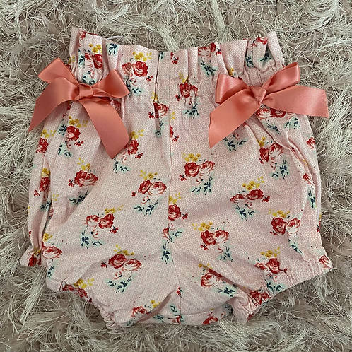Coral Floral Bloomers