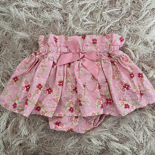 Pink Floral Peplum Bloomers
