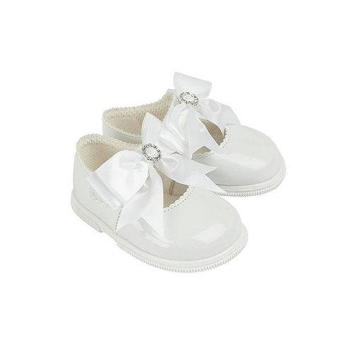 Diamante Bow Shoes (5 Colours)
