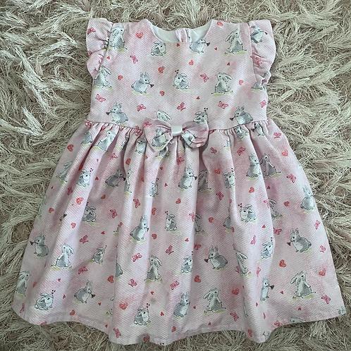 Pink Bunny Print Dress