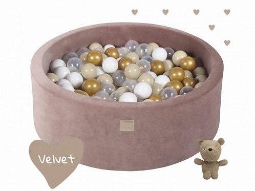 Teddy Bear Velvet Round Foam Ball Pit