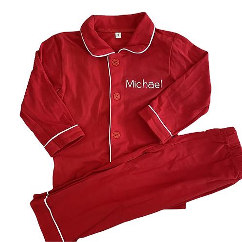 Boys Personalised Pyjamas (5 Colours)