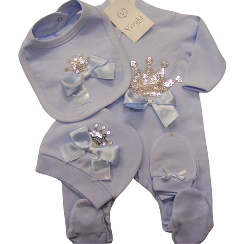 Blue Crown Gift Set