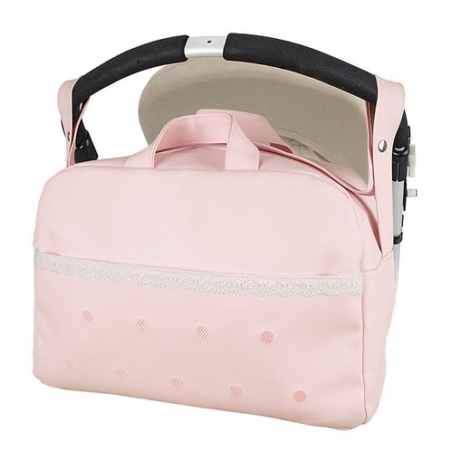 Pink Modin Spot Front Changing Bag