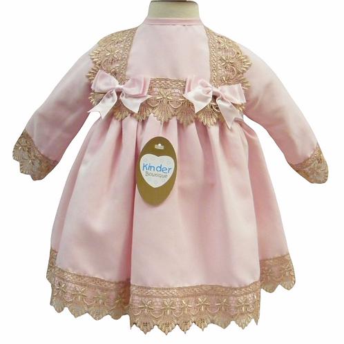 Pink Rose Gold Lace Dress