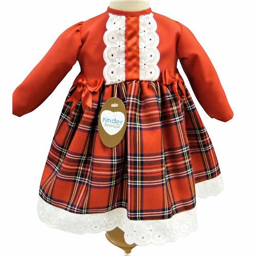 Red Tartan 2in1 Dress