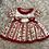 Thumbnail: Red Strawberry Pattern Puffball Dress & Pants