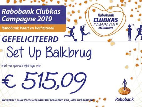 €515,09 opgehaald met de Rabobank clubkas actie