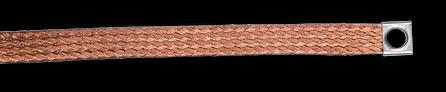 SHUNTS PLATS cuivre étamé cuivre rouge tresse de masse