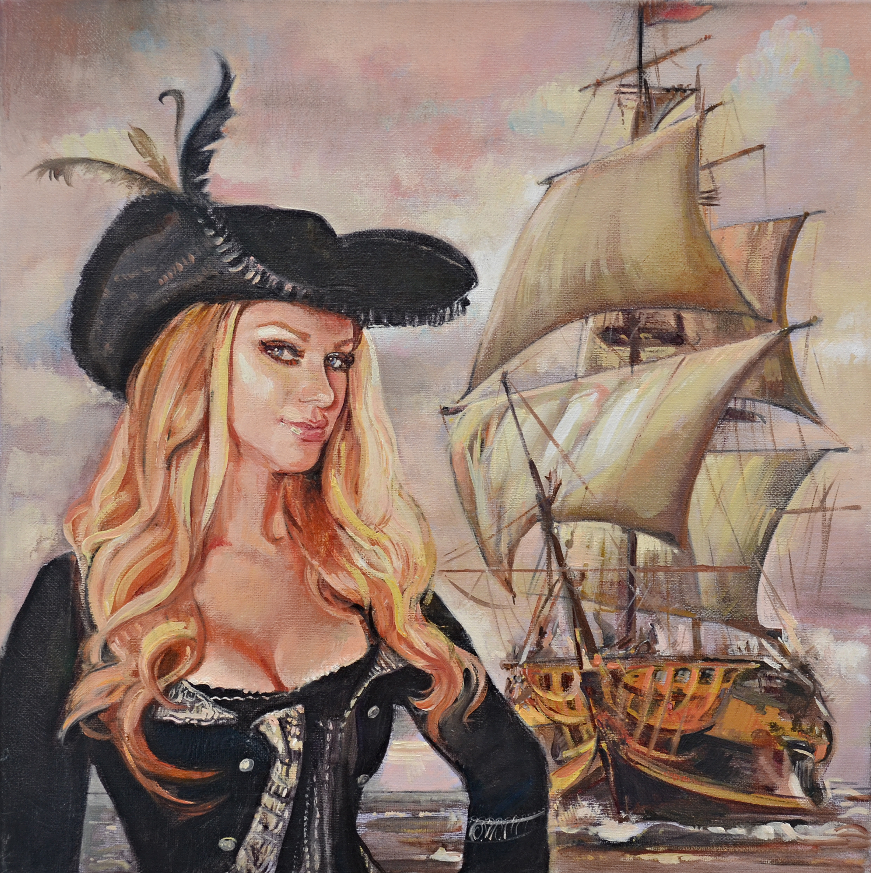 Девушка с кораблем
