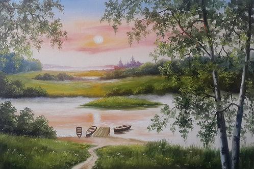 Лодки на пруду