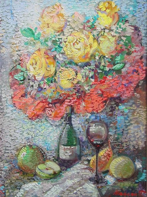 Цветы и вино