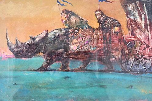 Шествие с носорогом