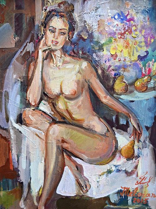 Женщина с грушами