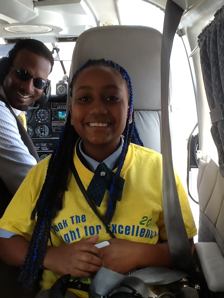 Student ready to fly!