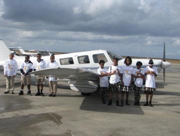 Robert R. Moton Kids & Plane