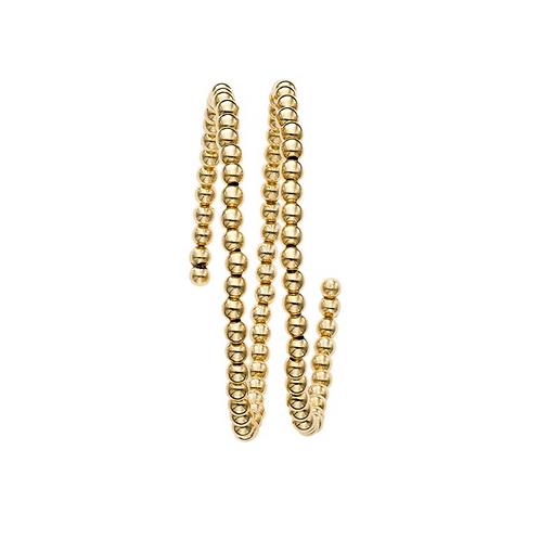 Wrap-Around Gold Bead Bangle
