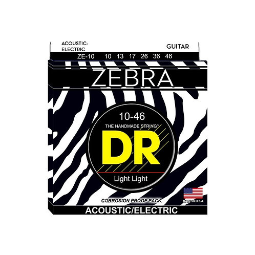 Zebra™ Acoustic-Electric Guitar Strings, 10-46, Extra Light