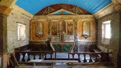 Chapelle St Gonvel _ intérieur en août 2