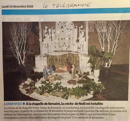 Le Télégramme, 14 décembre 20