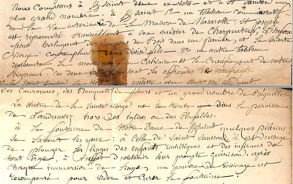 Lettre paroisse 1856