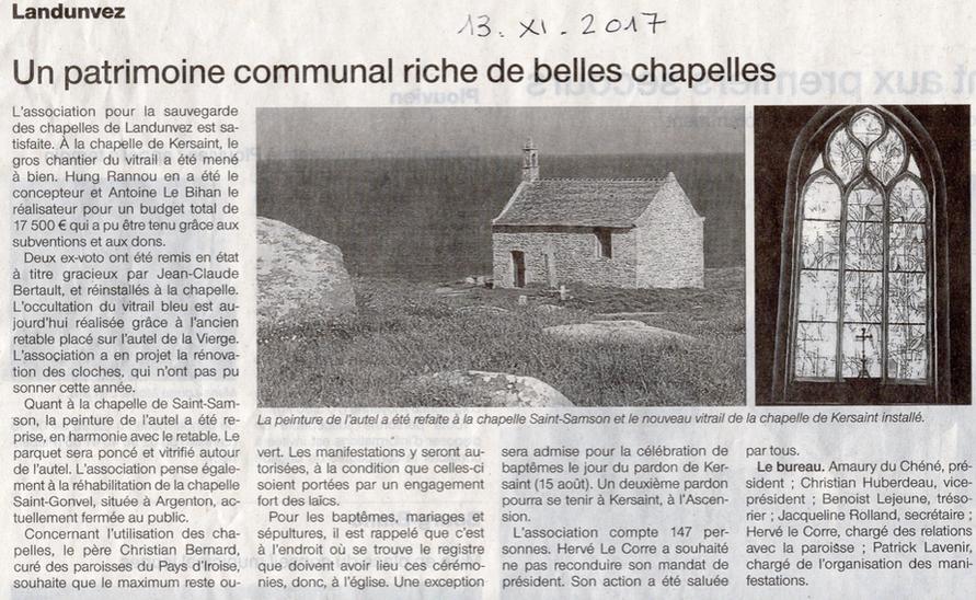 Ouest-France 13 nov 17