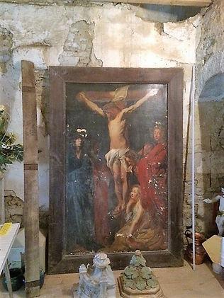 La Crucifixion, entreposée dans la sacri