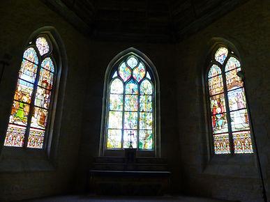 Le nouveau vitrail, au centre