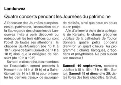 Ouest-France 18 sept 20