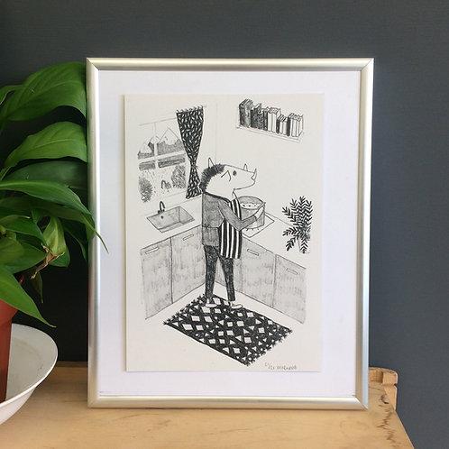 A5 sized warthog print
