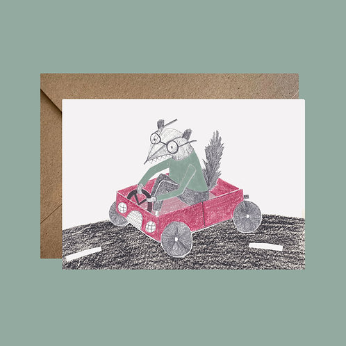 Racing Car Father's day card