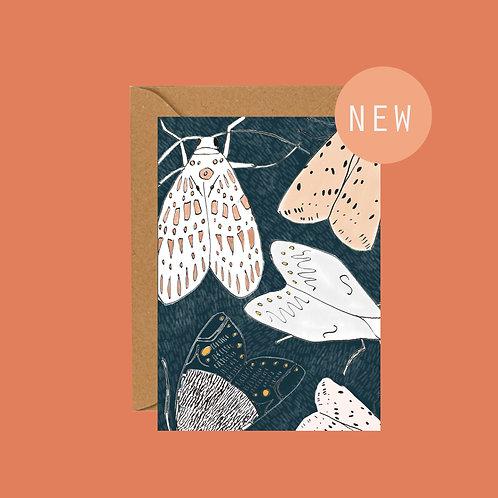 Moth greetings card