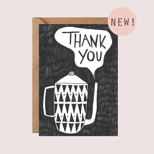 'Thank you' Teapot card
